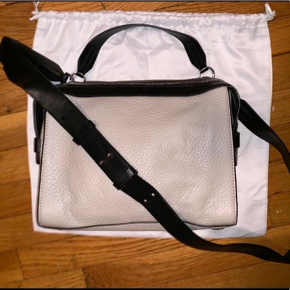 Michael Kors Handbags - Michael Kors taupe and black pebbled leather purse